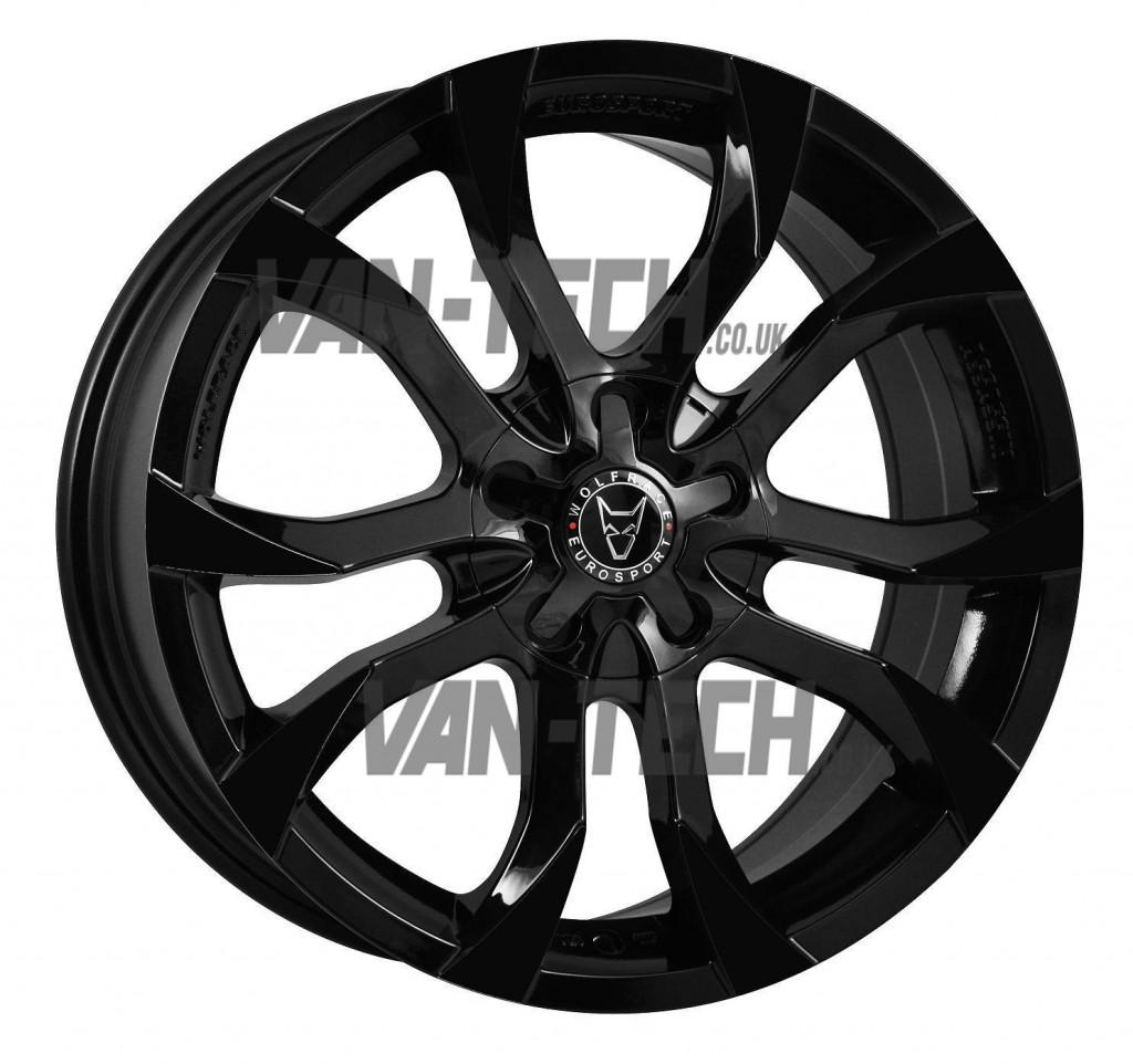 Vw T5 T5 1 T6 Wolfrace Turismo 18 Alloys Wheels Gloss Black