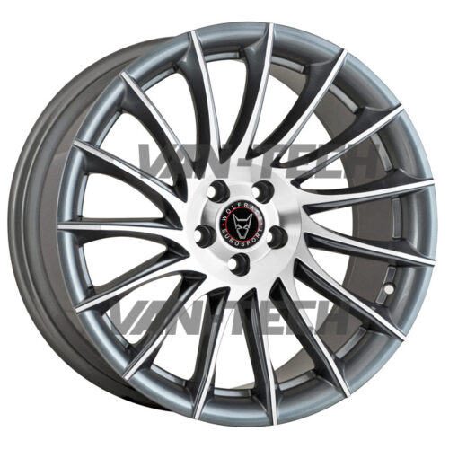VW T5 T5.1 T6 Wolfrace Aero 20″ Alloy Wheels Gun Metal / Polished