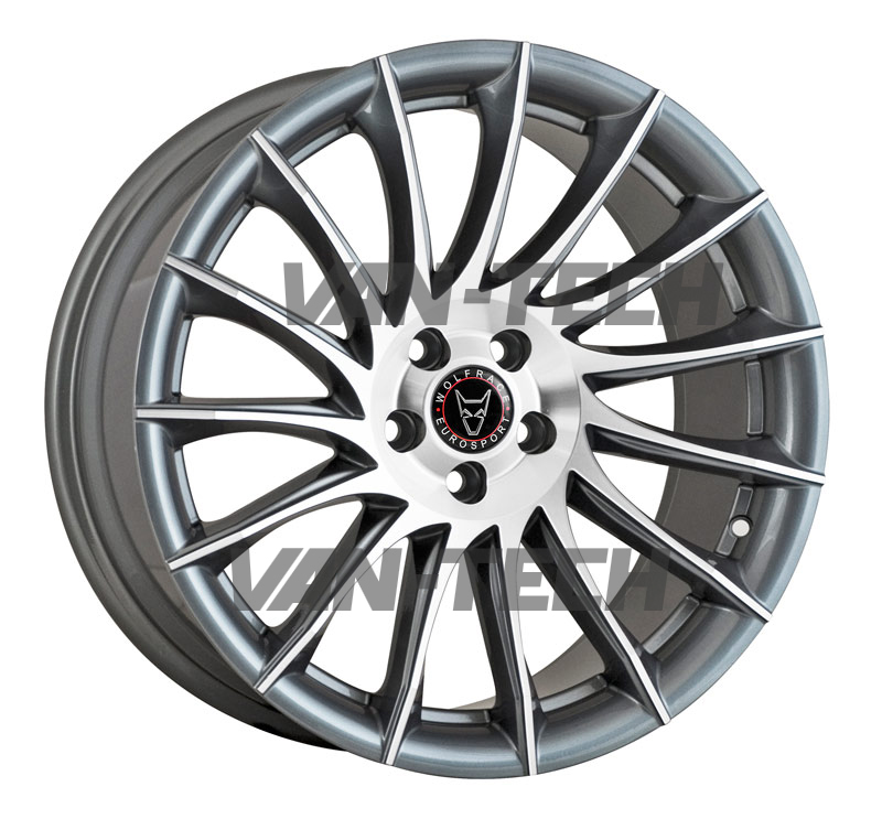 VW T5 T5.1 T6 Wolfrace Aero 20″ Alloy Wheels Gun Metal / Polished