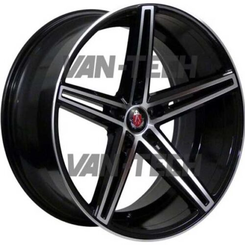 "VW T5 T5.1 T6 Axe EX-14 Alloy Wheels 20"" Black Polished"
