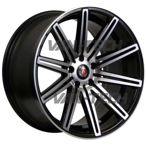 "VW T5 T5.1 T6 Axe EX-15 Alloy Wheels 18"" Black Polished"