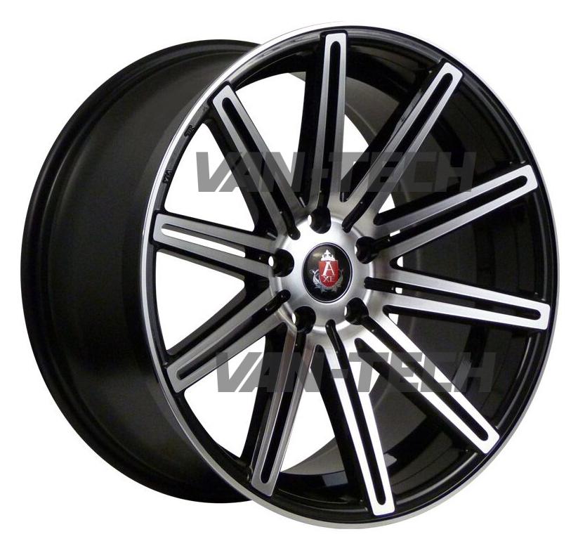 "VW T5 T5.1 T6 Axe EX-15 Alloy Wheels 18"" Black Polished"