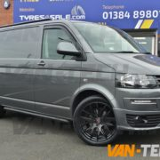 VW Transporter t5 fitted with CS Lite 20 inch alloy wheels (1)