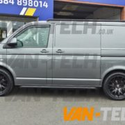 VW Transporter t5 fitted with CS Lite 20 inch alloy wheels (2)