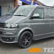 VW Transporter t5 fitted with CS Lite 20 inch alloy wheels (3)