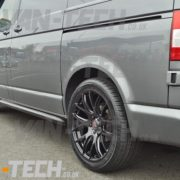 VW Transporter t5 fitted with CS Lite 20 inch alloy wheels (5)