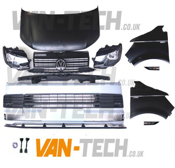 VW Transporter T5 To T6 Conversion Styling Pack With Lower Splitter