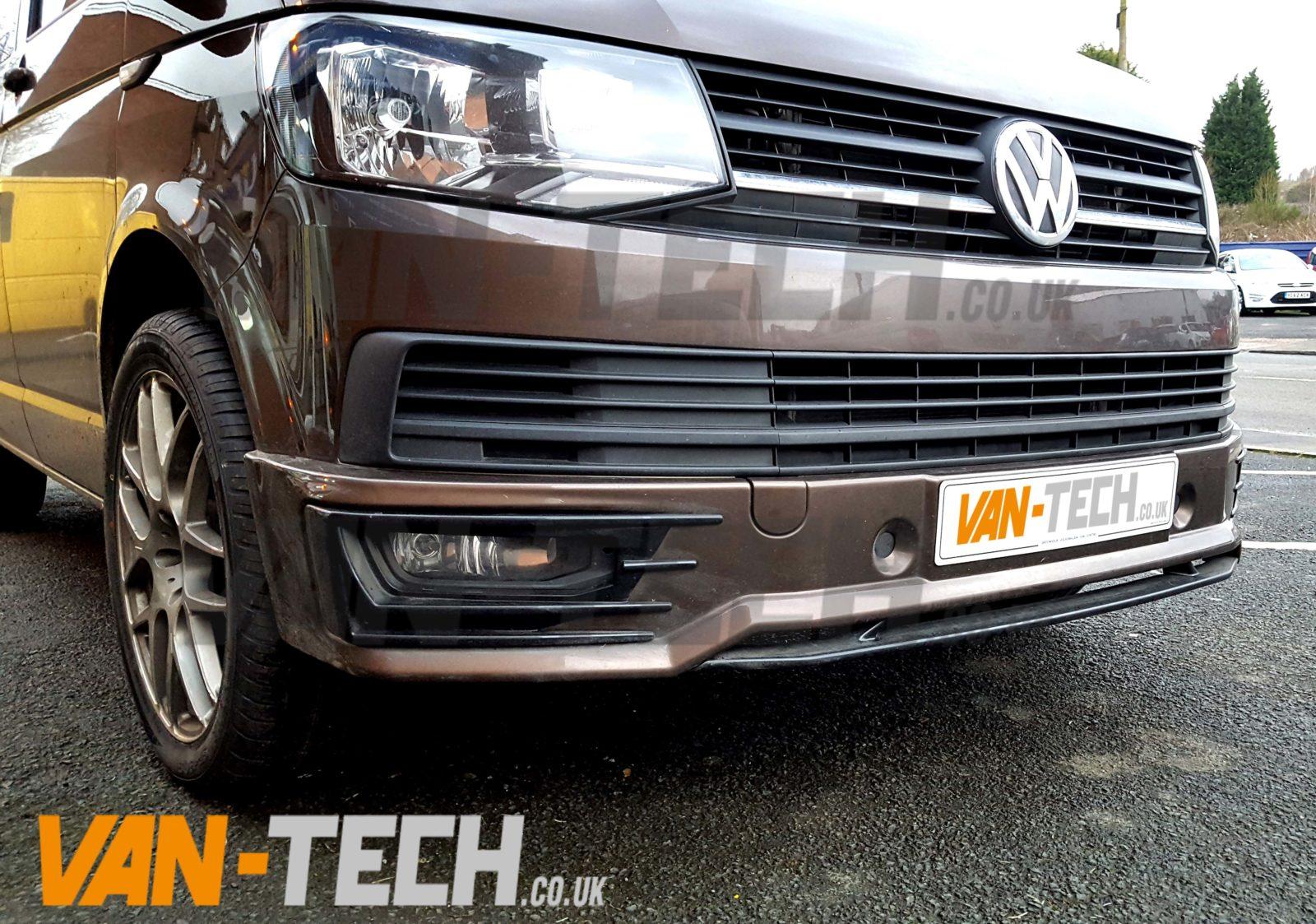 VW Transporter T6 Sportline Front Lower Bumper Spoiler   Van-Tech