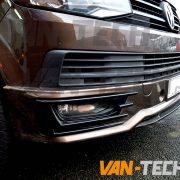 VW Transporter T6 Front Lower Sportline Bumper Spoiler (2) 7