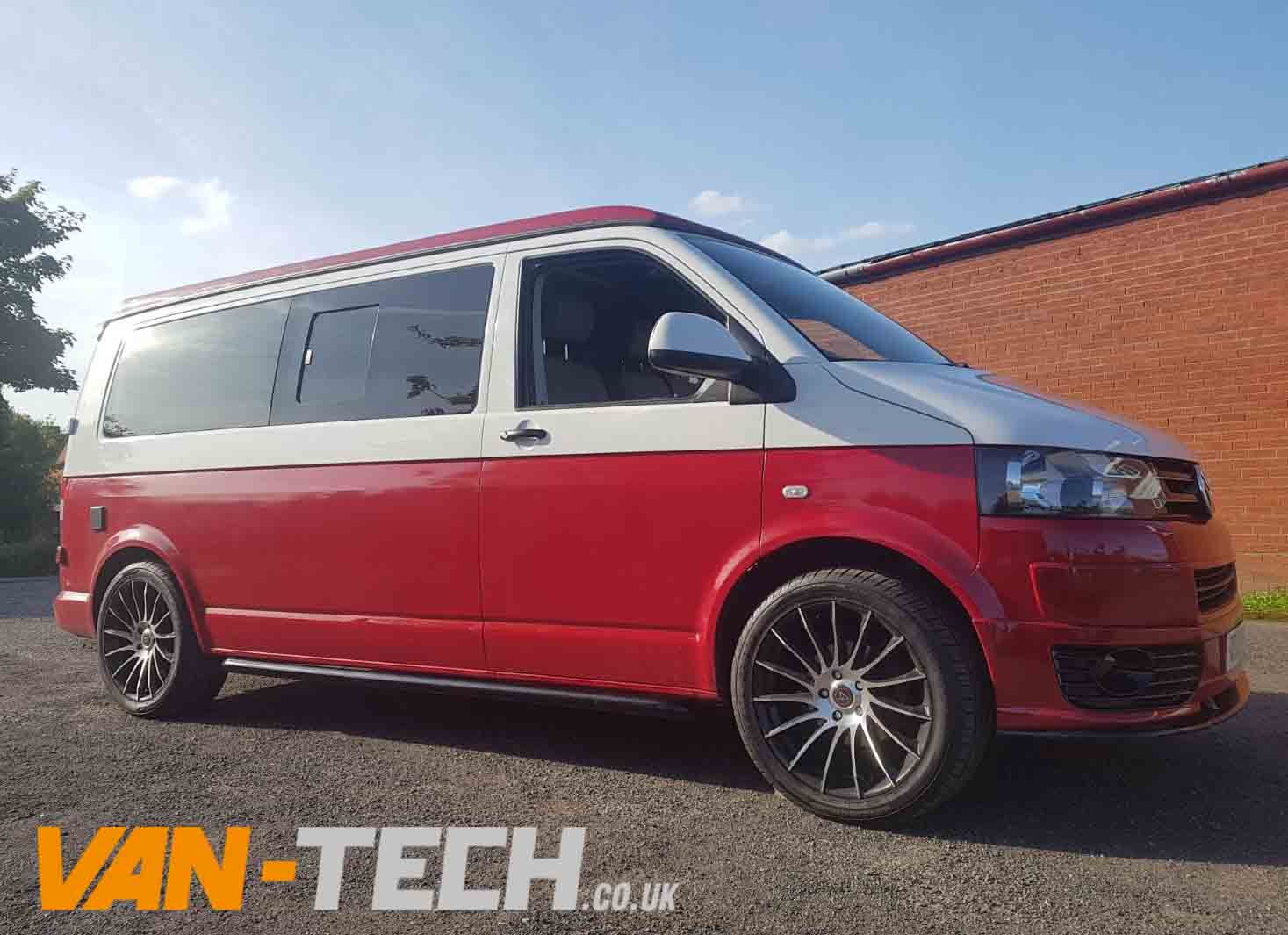 For Sale Vw Transporter T5 1 Camper Van White And Red Two
