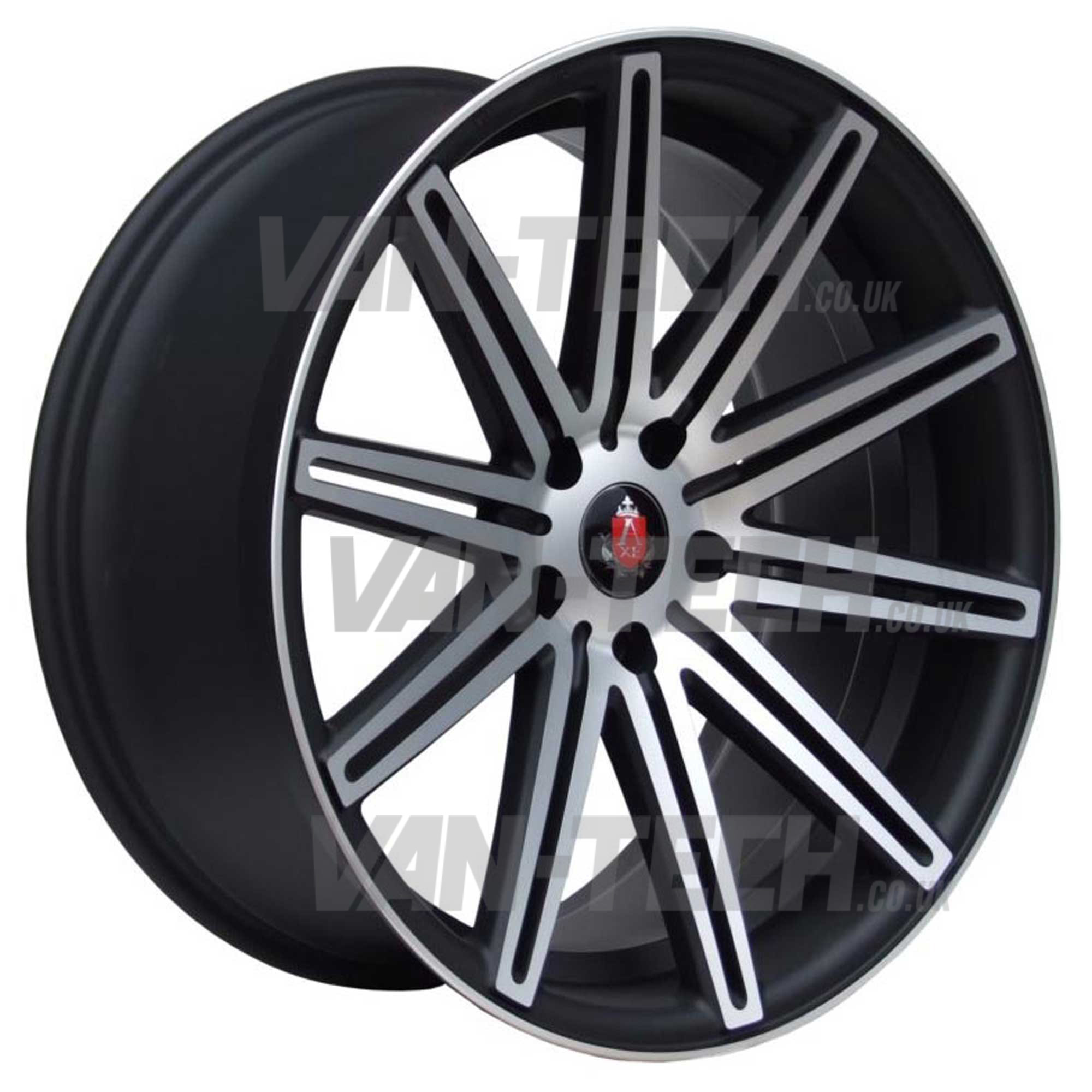 "VW T5 T5.1 T6 Axe EX-15 Alloy Wheels 20"" Black Polished"