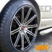 VW Transporter T5 Van fitted with a set of Ex-15 Alloy Wheels