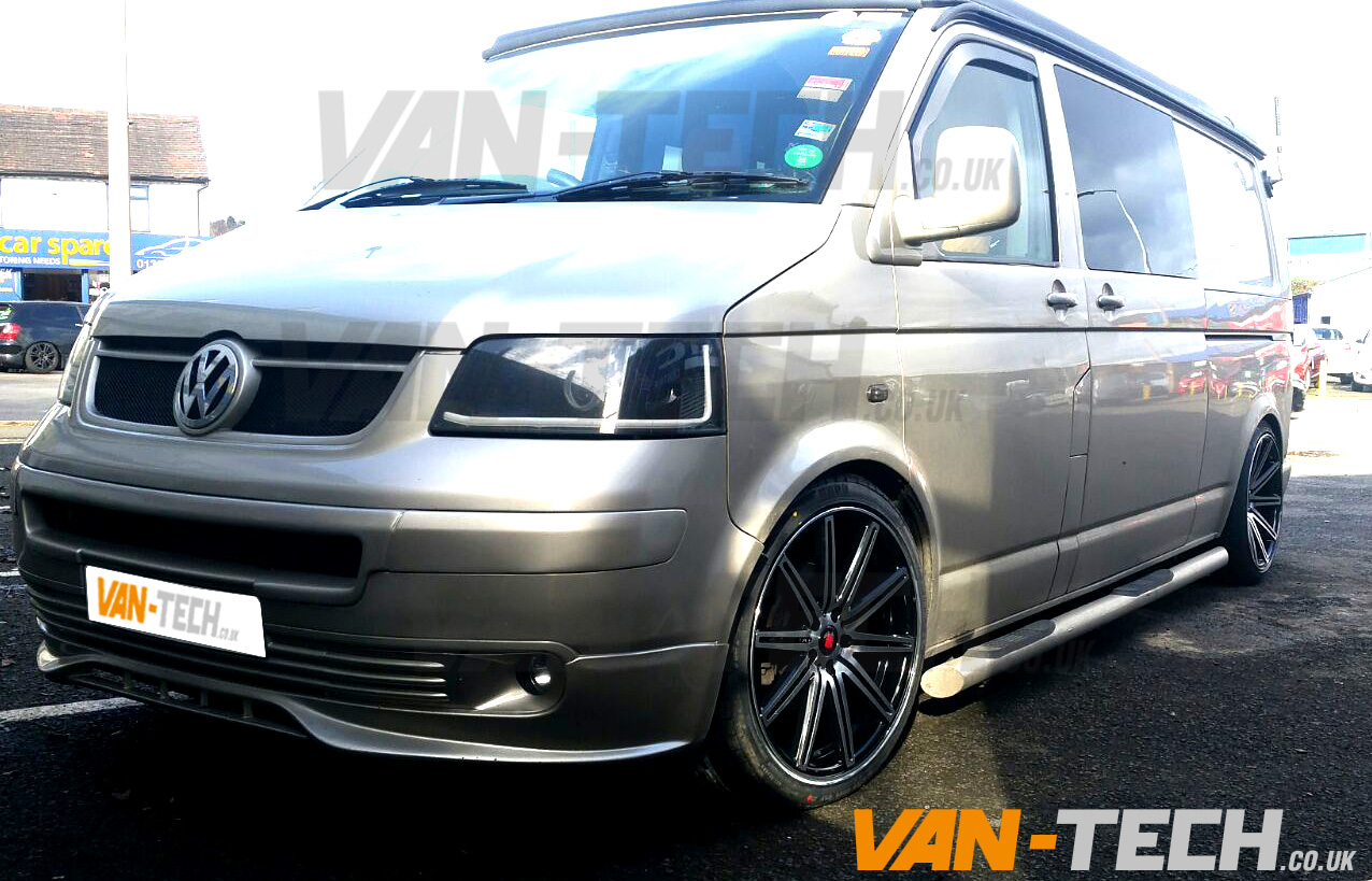 Axe Ex 15 Alloy Wheels 20 Black Polished Fitted To Vw T5