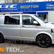 VW Transporter T5 with 20 inc calibre manhattan alloy wheels (2)