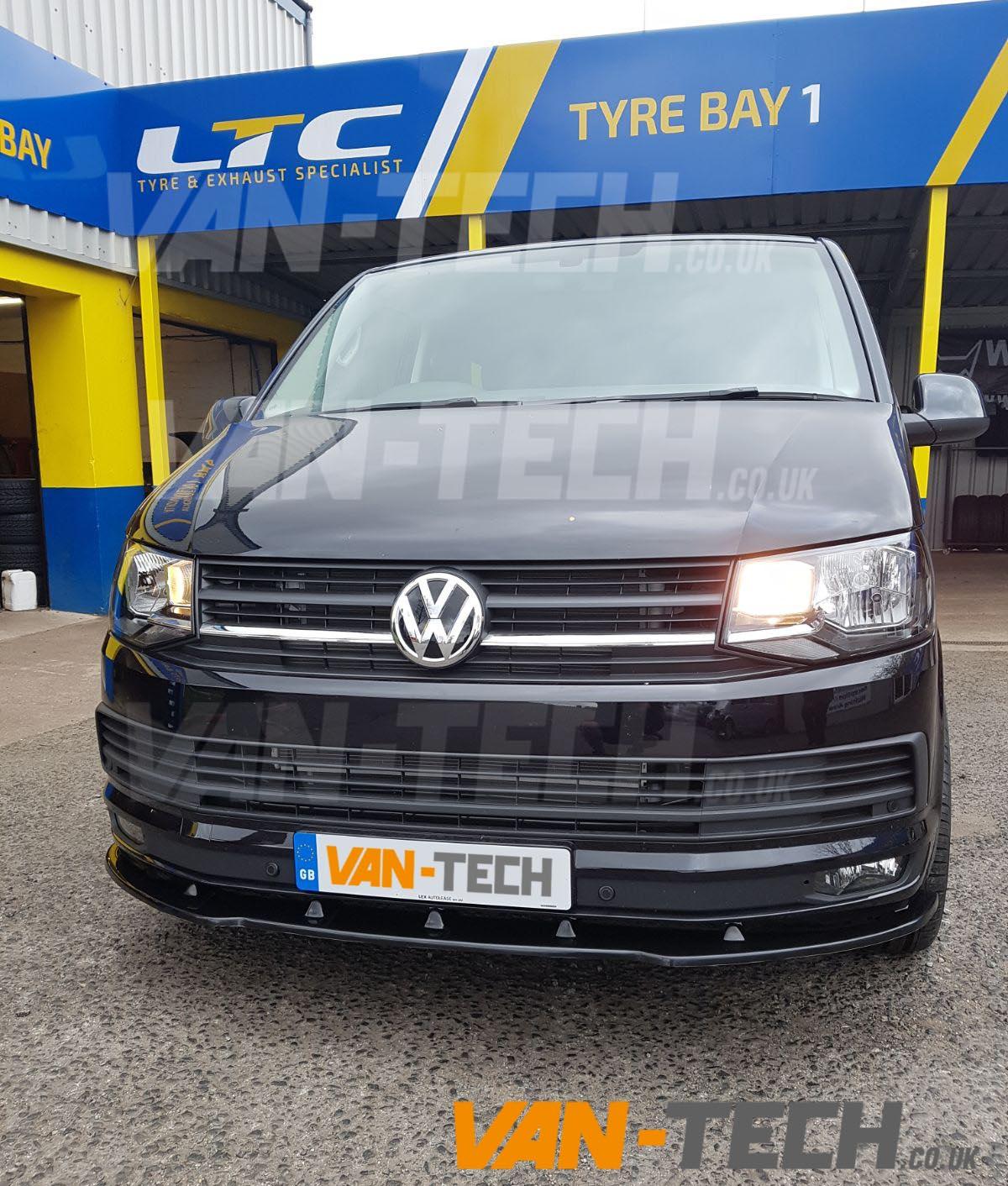 VW Transporter T6 Van Front Bumper Lower Splitter / Spoiler