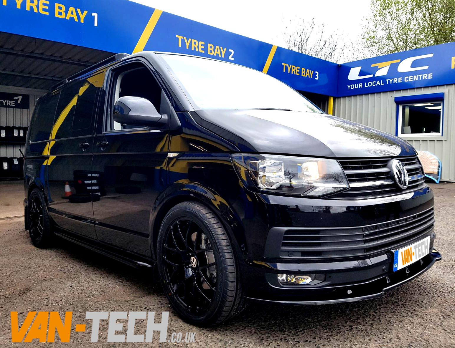 volkswagen vw transporter t6 van front lower splitter van tech. Black Bedroom Furniture Sets. Home Design Ideas