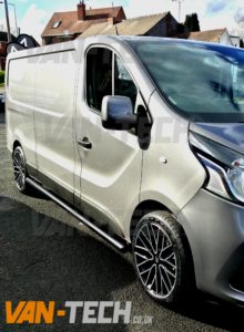 Renault Trafic New Shape With Side Bars And Wheels Van Tech