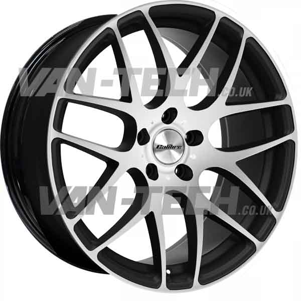 "VW T5 T5.1 T6 Calibre Exile-R Alloy Wheels 18"" Black / Polished"
