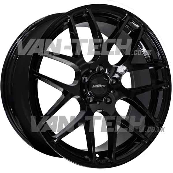 "VW T5 T5.1 T6 Calibre Exile-R 18"" Alloy Wheels Gloss Black"