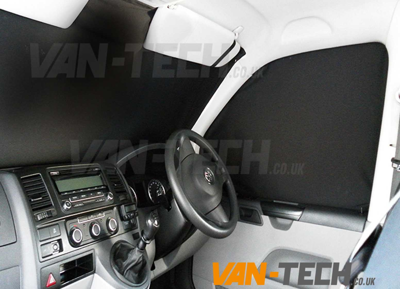 VW T5 Van Transporter Interior Cab Curtain set | Van-Tech