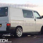 VW transporter t4 black slash cut side bars (1)