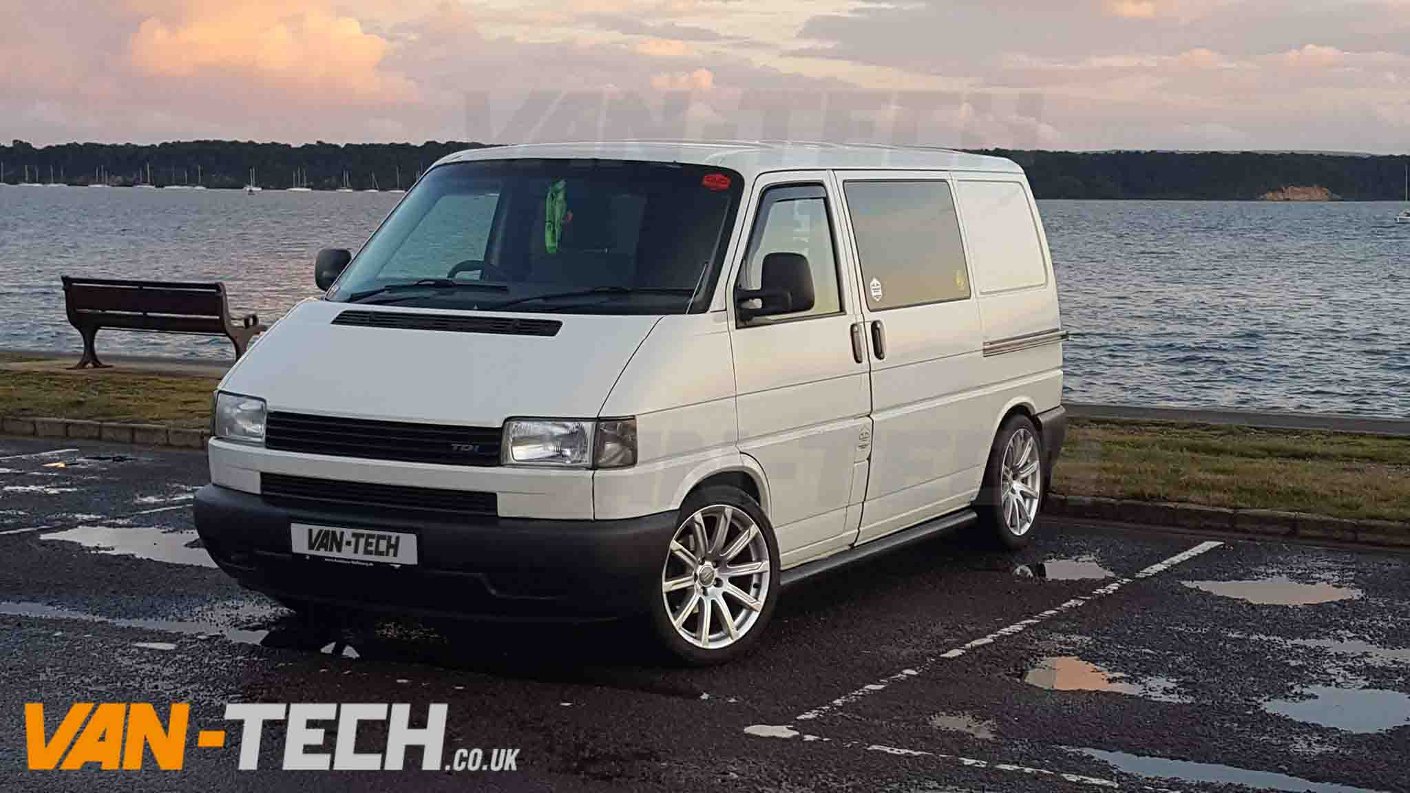 vw t4 swb lwb transporter black slashed end side bars van tech. Black Bedroom Furniture Sets. Home Design Ideas