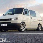 VW transporter t4 black slash cut side bars (3)