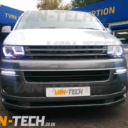 VW Transporter T5 with lower bumper spolier spiltter kit fitted (4)
