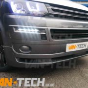 VW Transporter T5 with lower bumper spolier spiltter kit fitted (7) copy