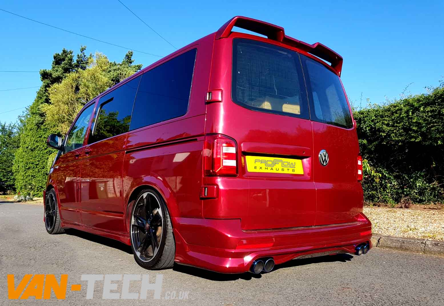 Vw T5 Transporter Fitted With Custom Exhaust With Dual