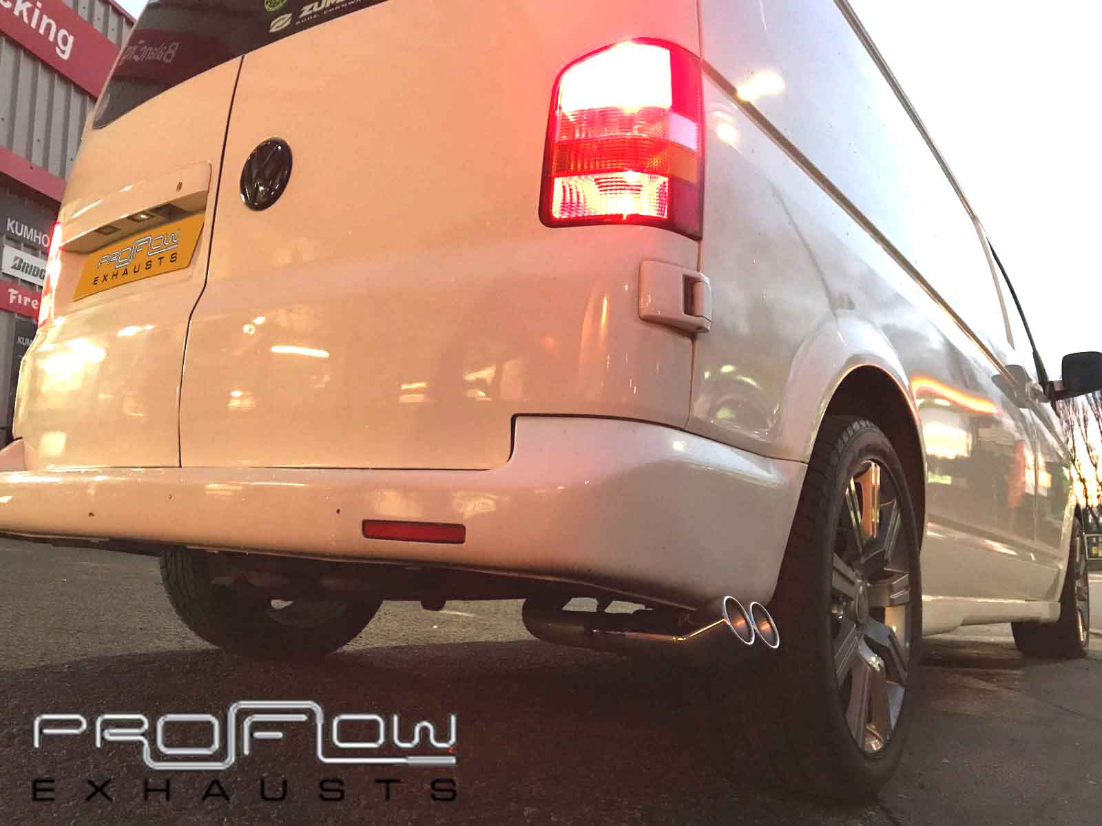 Vw Transporter T5 Fitted With Proflow Exhausts Stainless Steel Side Exit Van Tech