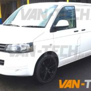 VW Transporter T5 fitted with a Axe CS-Lite Alloy Wheels 20 inch gloss black (1)