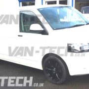 VW Transporter T5 fitted with a Axe CS-Lite Alloy Wheels 20 inch gloss black (2)