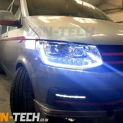 vw-t5-transporter-van-head-lights-DRL-Light-bar-replacement-LED-black-fitted (1)