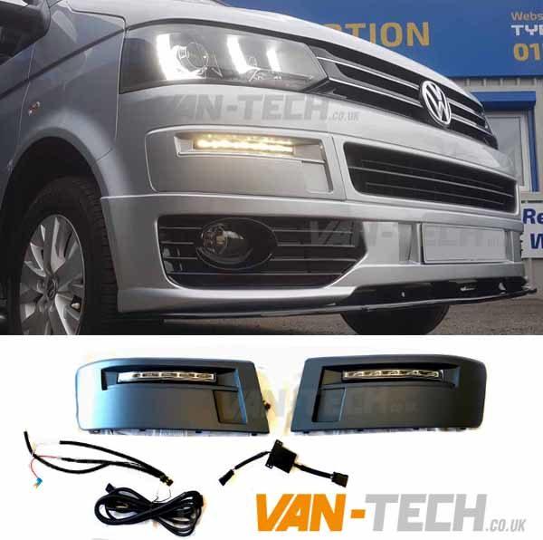VW T5.1 Transporter Daylight Daytime Running Lights LED