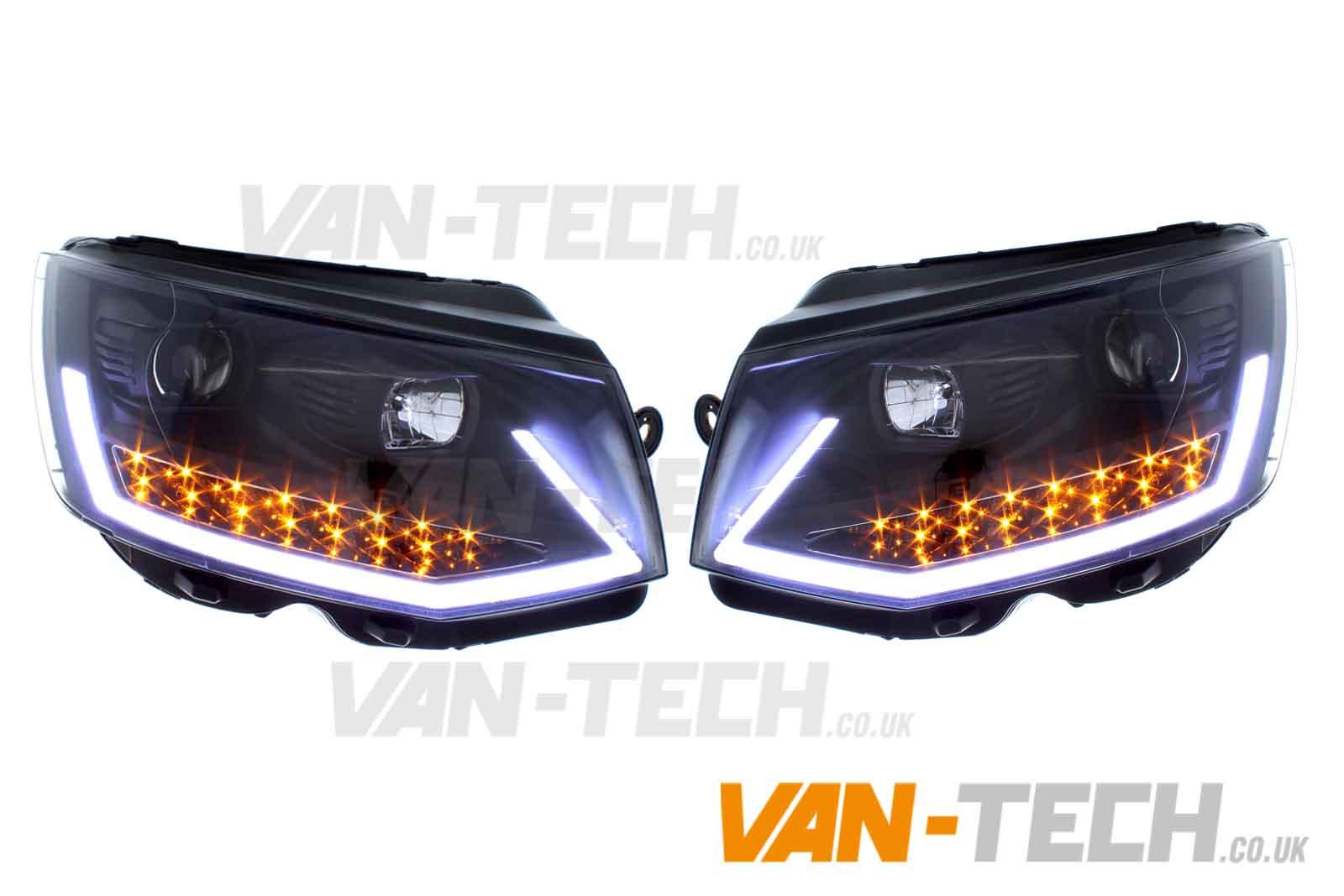 Vw T5 Transporter Van Head Lights DRL Light  ...