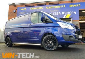 Vw T6 Transporter Conversion West Midlands >> Ford Transit Custom with Calibre T-Sport 18″ Gloss Black Alloy Wheels