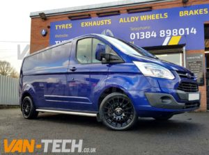 Ford transit custom with calibre t sport 18 gloss black alloy wheels another great job completed by van tech publicscrutiny Images