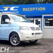 VW TRansporter T5 fitted with wolfrace munich silver 20 inch ally wheels (3)