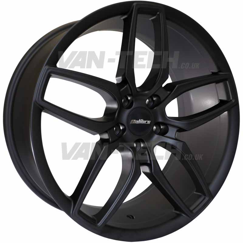 "VW T5 T5.1 T6 Calibre CC-U Alloy Wheels 20"" Matte Black"