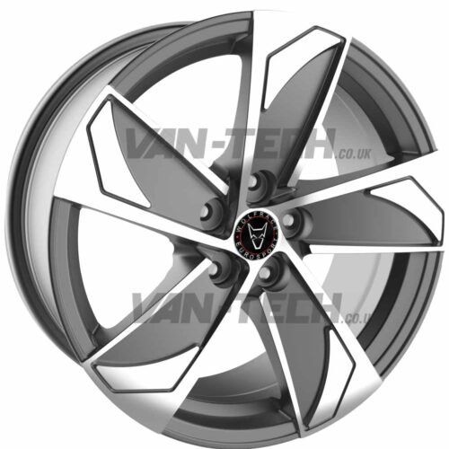 Wolfrace AD5 Alloy Wheels 18″ Gun Metal / Polished