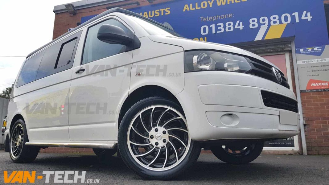 VW T5 T5.1 T6 Calibre Turbine 2 Alloy Wheels 20″ Black / Polished