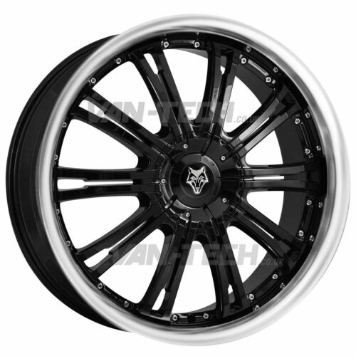 "VW T5 T5.1 T6 Wolfrace Vermont 20"" Alloy Wheels Black / Polished"