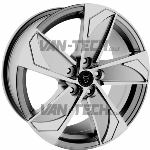 Wolfrace AD5 Alloy Wheels 18″ VW T5 T5.1 T6 Silver / Polished