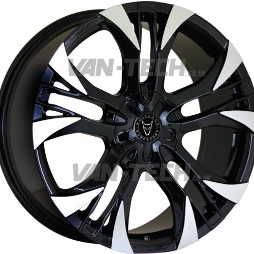 Wolfrace Assassin GT2 Alloy Wheels 18″ VW T5 T5.1 T6 Black / Polished