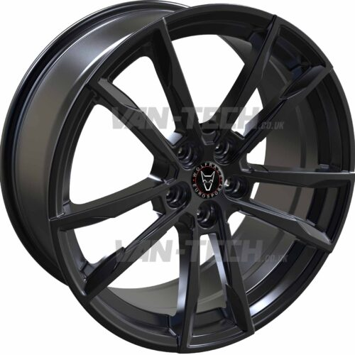 VW T5 T5.1 T6 Wolfrace Dortmund 20″ Alloy Wheels Gloss Black