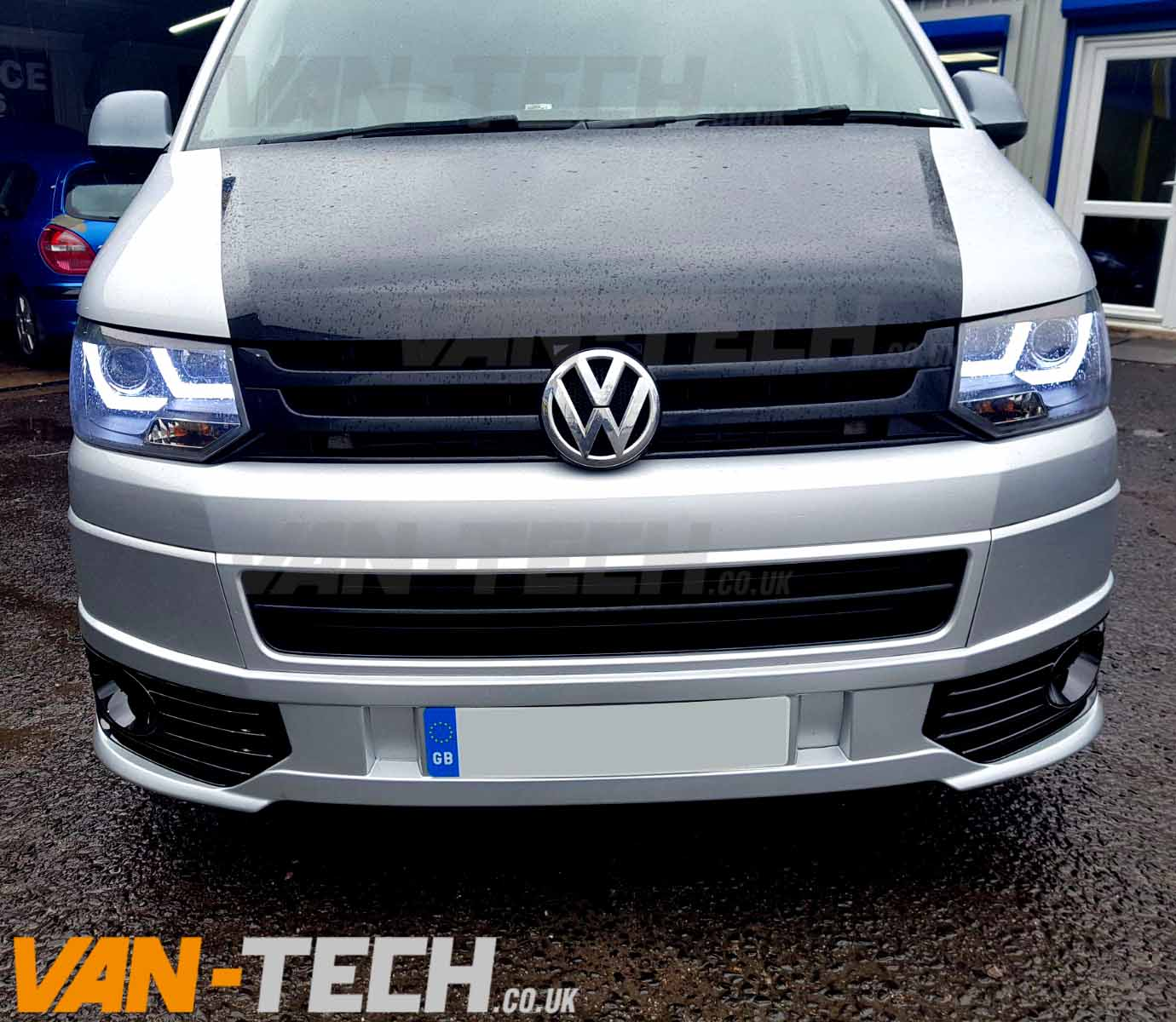 Vw T5 1 Fitted With Lower Sportline Bumper And Light Bar