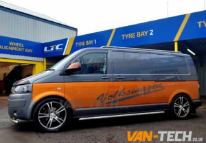 VW T5 Fitted with Lightbar Headlights and Side Bars