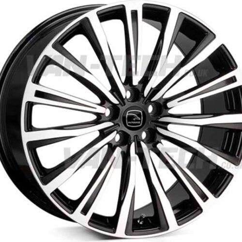"VW T5 T5.1 T6 Hawke Chayton 20"" Alloy Wheels Black Polished"