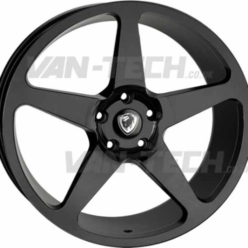 "VW T5 T5.1 T6 Cades Vulcan 20"" Alloy Wheels Gloss Black"